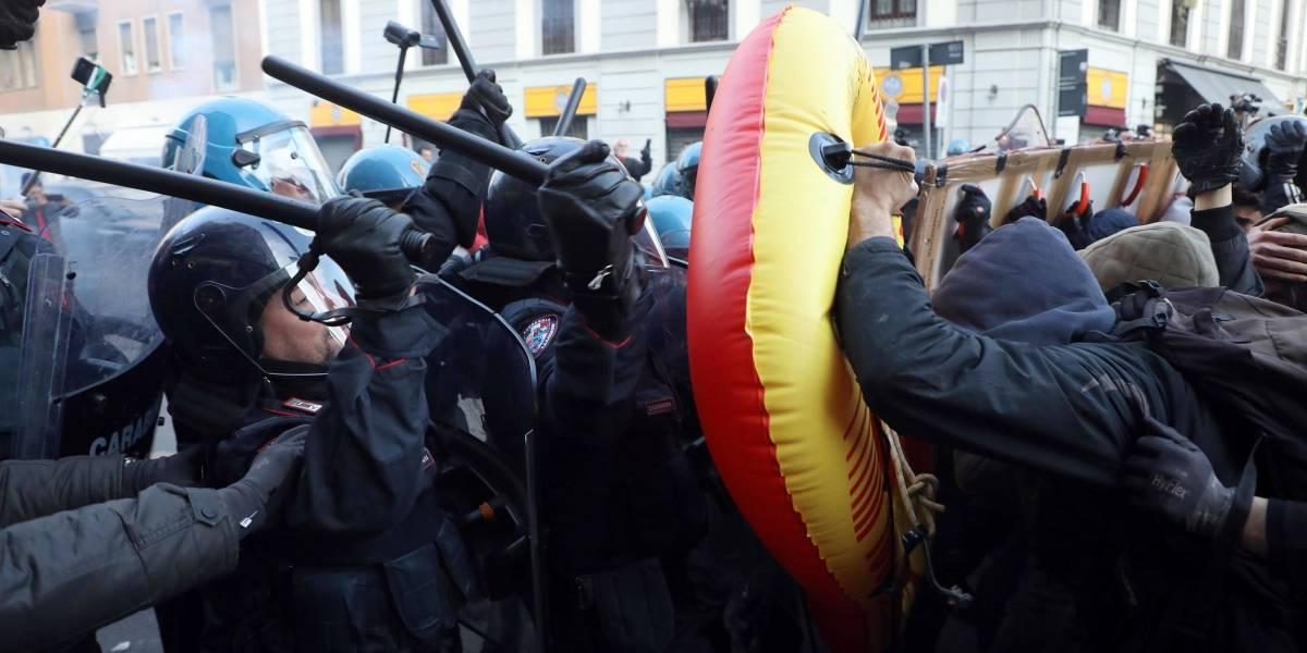 Protestan en Italia contra el fascismo en plena campaña electoral