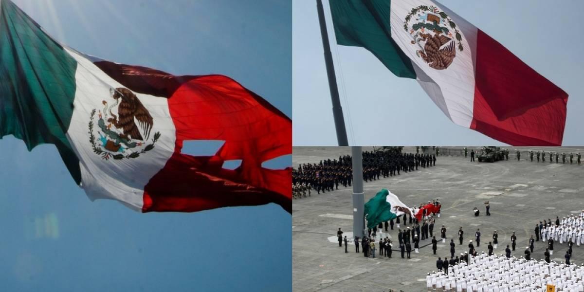"""Fotos: 4 """"malos ratos"""" que han ocurrido con la bandera de México"""