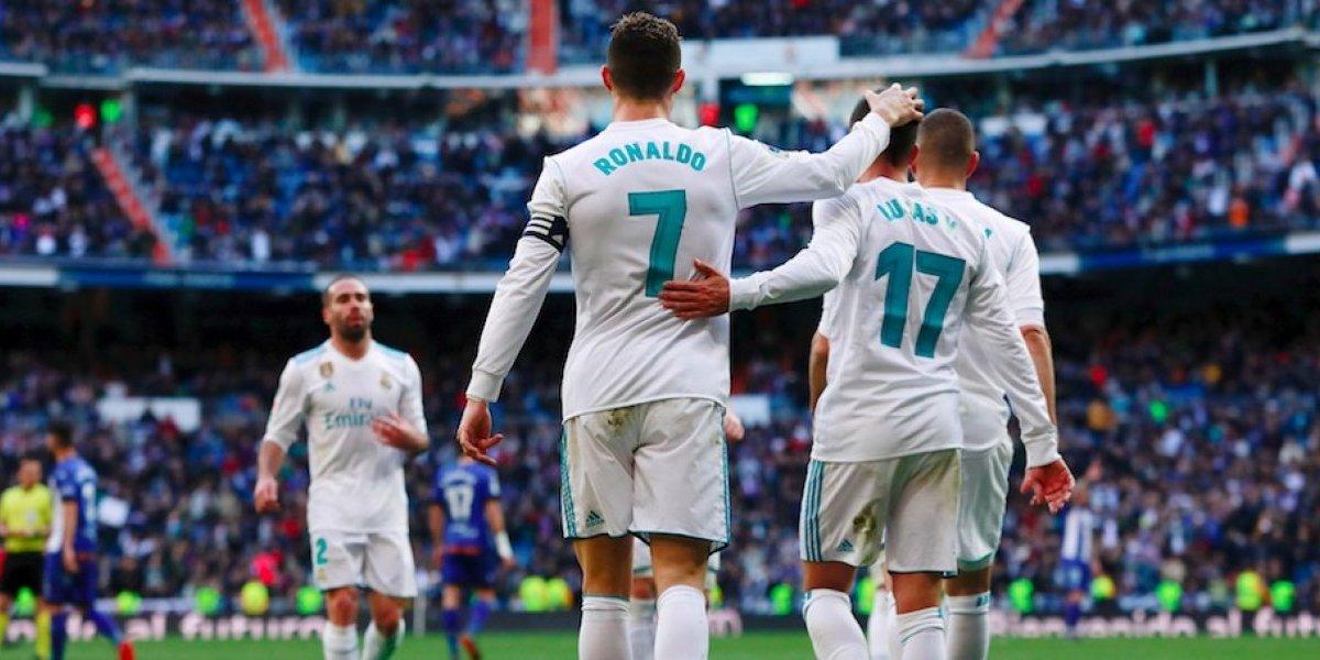 El Real Madrid golea al Alavés con doblete de CR7