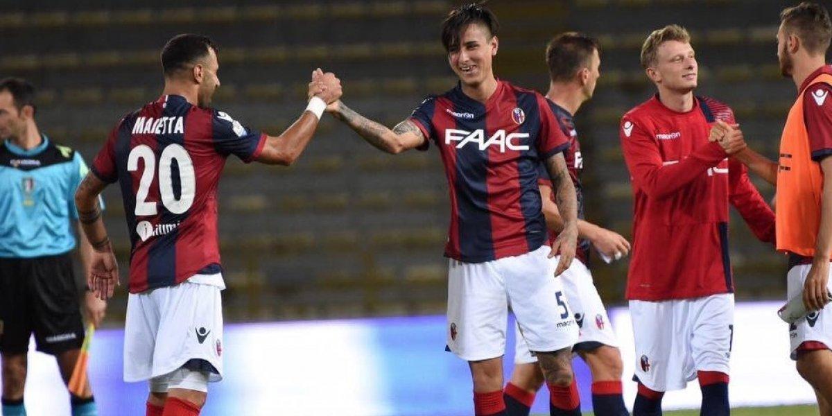 Erick Pulgar sigue sonriendo en Italia tras victoria del Bologna sobre Genoa