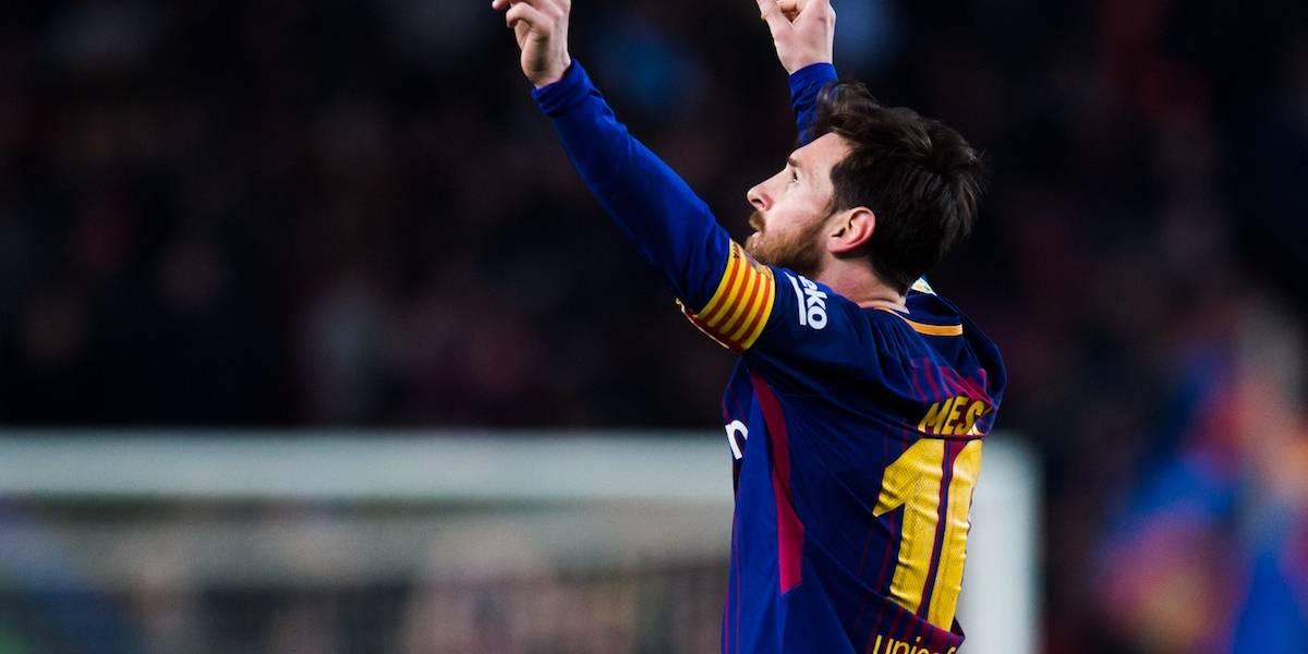Messi dedica brillante recital hasta el cielo en goleada del Barcelona
