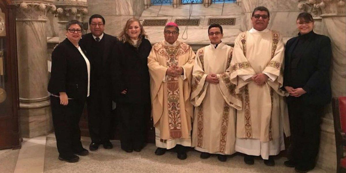 La última Santa Eucaristía que presidió Monseñor Óscar Julio Vian