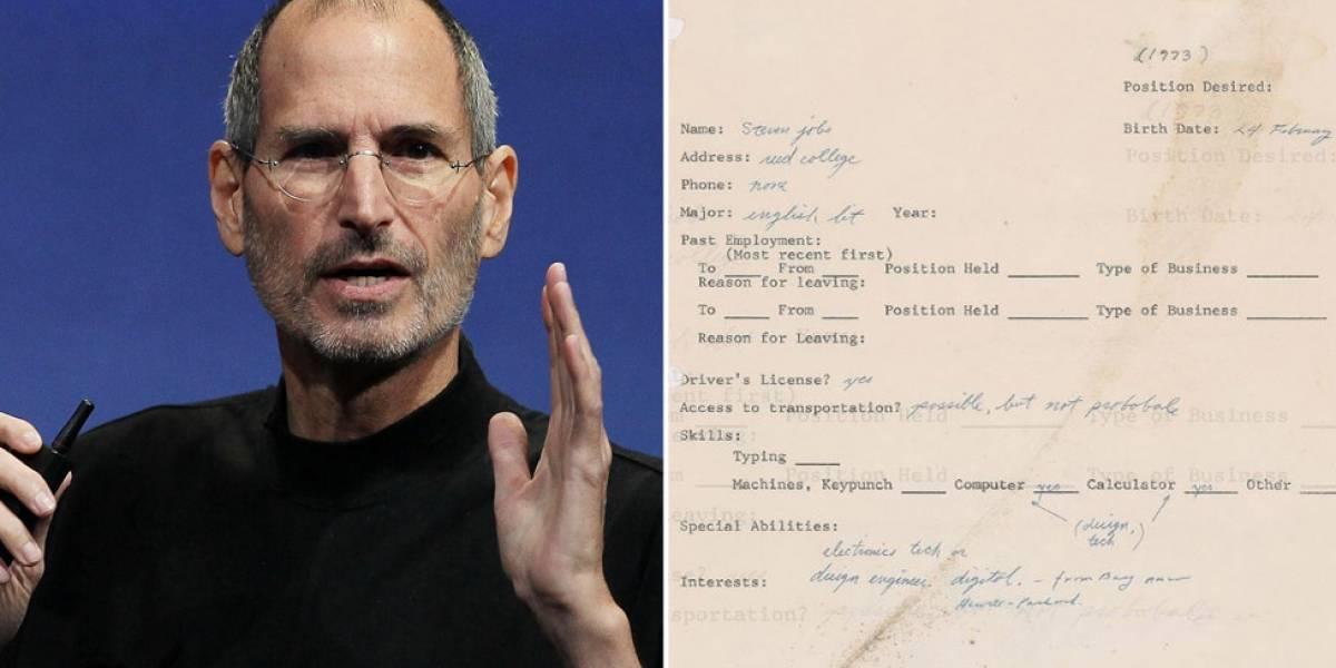 Avaliado em R$ 165 mil, formulário de emprego de Steve Jobs revela interesses de criador da Apple