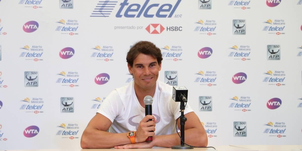 """""""No buscó ser número uno, vine a Acapulco porque me hace feliz"""": Rafael Nadal"""