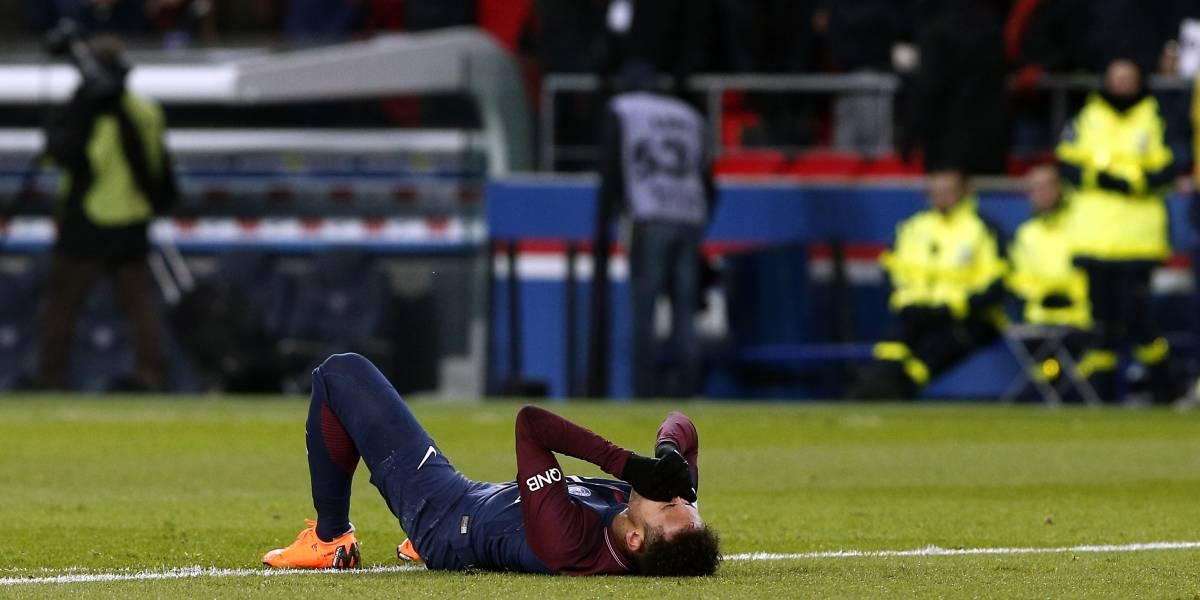 Neymar salió llorando en el partido de PSG ante el Olympique de Marsella