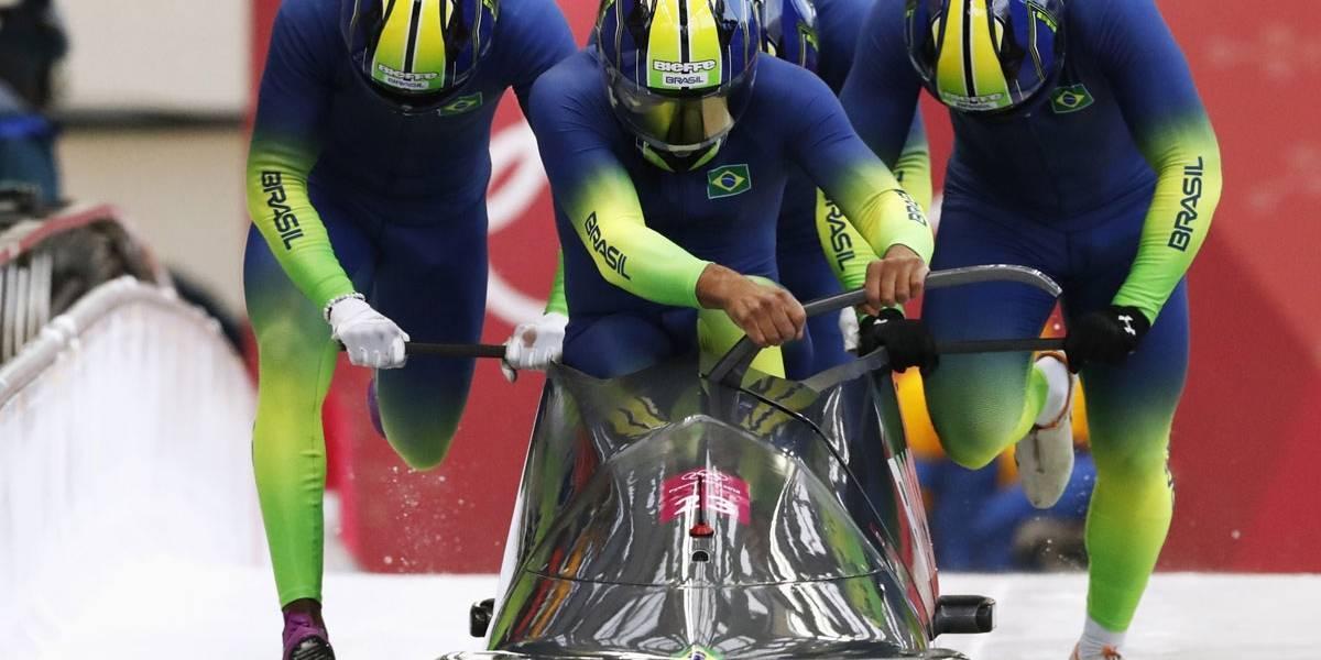 Brasil fica fora de final no bobsled, mas consegue melhor resultado da história