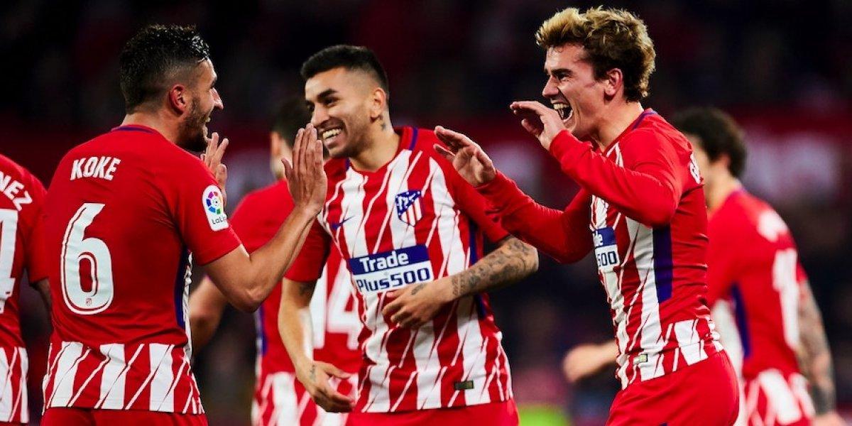 Atlético de Madrid golea al Sevilla con Layún en la cancha