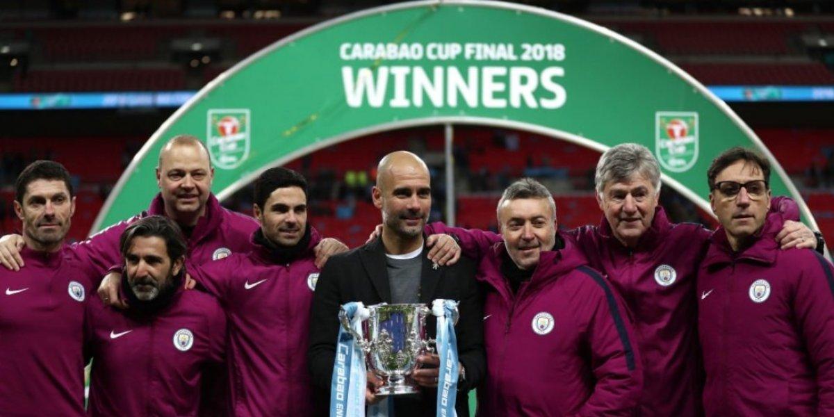 Guardiola logra su primer título en Inglaterra