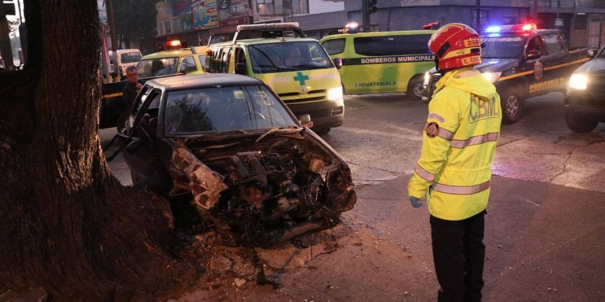 Hombre fallece en accidente en la zona 9