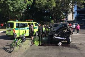 En la mañana de este domingo se registró un accidente vial.