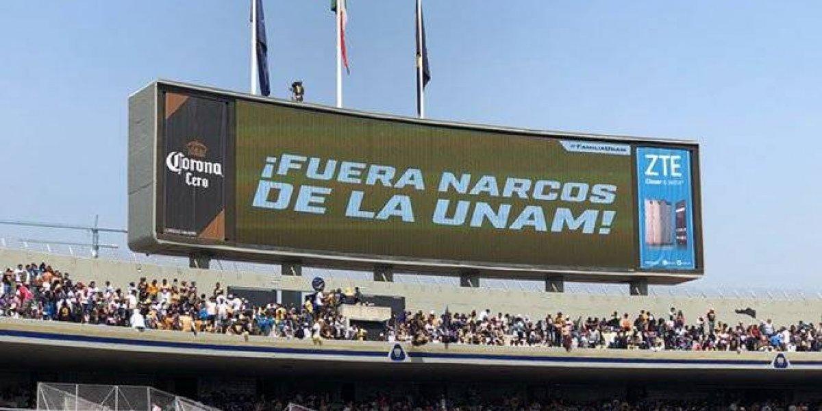 Pumas pide la salida de narcos de la UNAM