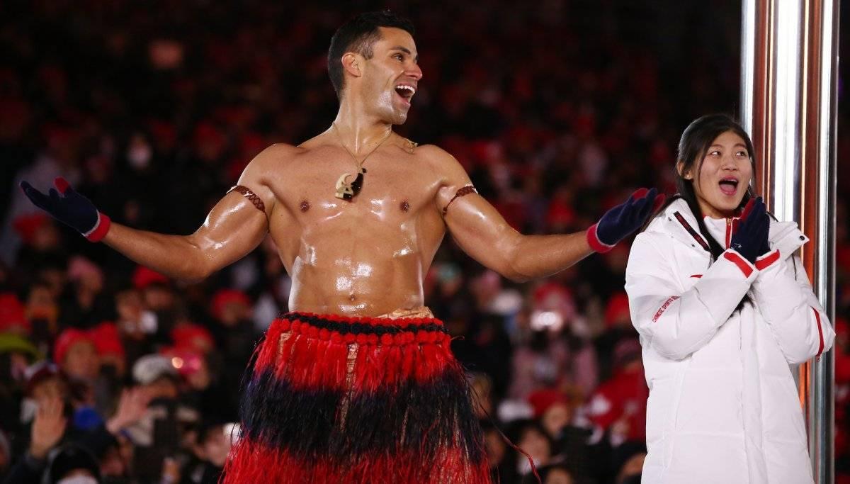 Pita Taufatofua se llevó miles de carretadas de aplausos en la clausura de los Juegos Olímpicos de invierno |GETTY IMAGES