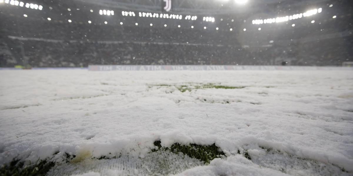 FOTOS: Suspenden partido Juventus-Atalanta por intensa nevada