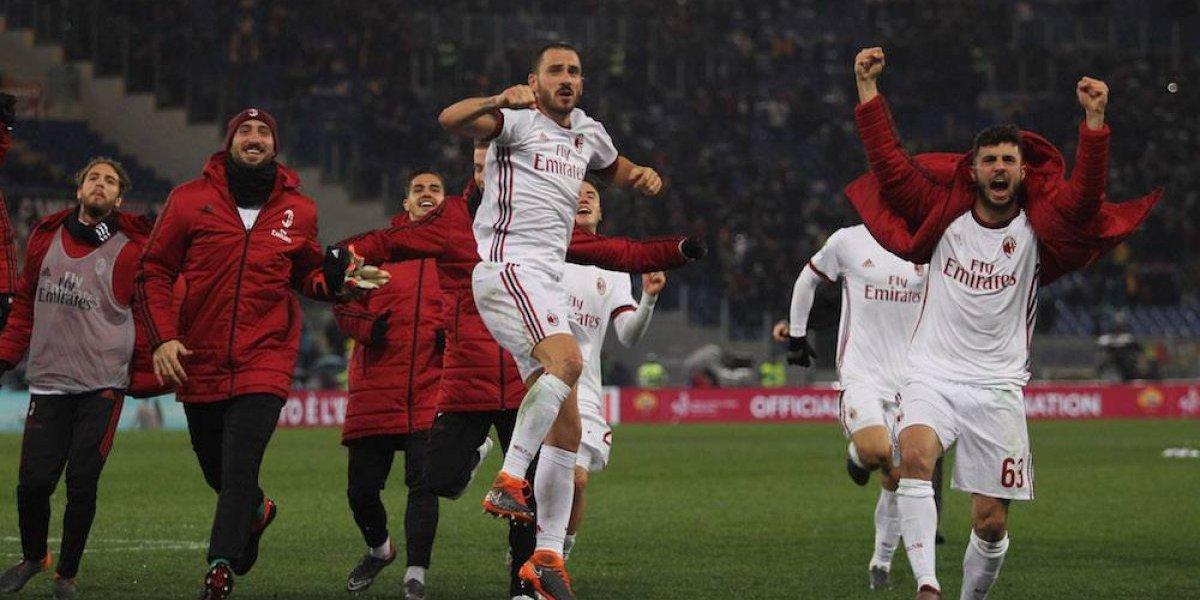 Milán confirma su mejoría con triunfo sobre la Roma