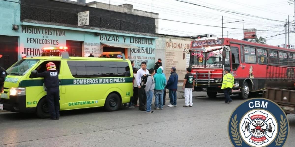 Piloto de bus ruta 40R muere tras ataque armado en Mixco