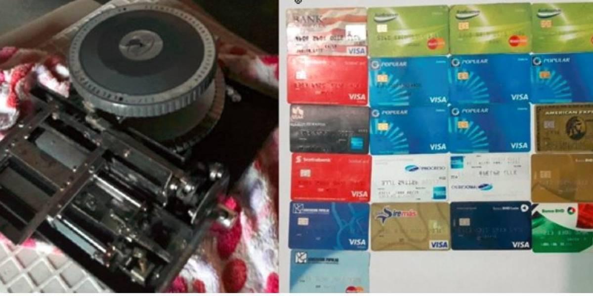 Policía Nacional desmantela laboratorio de clonación de tarjetas de crédito