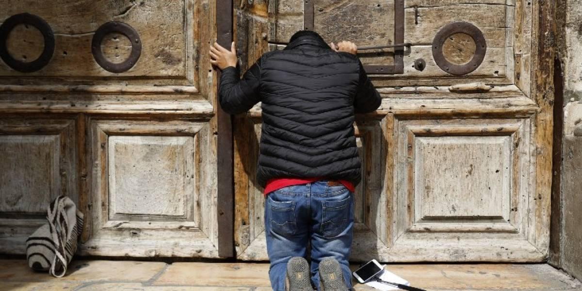 VIDEO. La iglesia del Santo Sepulcro cierra sus puertas para protestar contra un nuevo impuesto