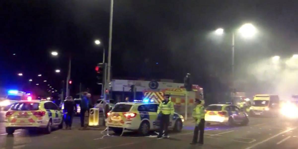 VIDEO. Explosión e incendio dejan 4 heridos en Leicester Gran Bretaña