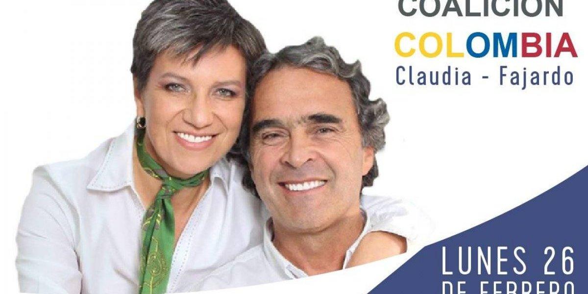 Claudia López sería la fórmula vicepresidencial de Sergio Fajardo