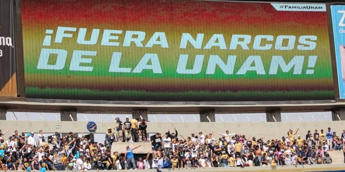 Rectoría se deslinda de mensaje 'Fuera narcos de la UNAM'