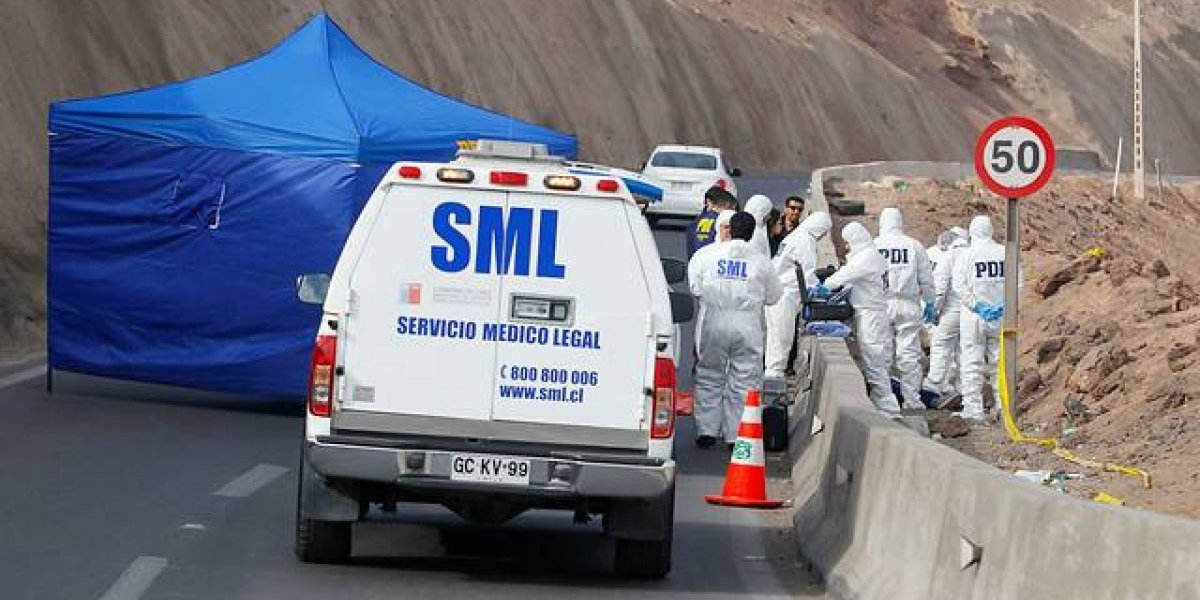 Dos personas son asesinadas al día en Chile, una en regiones y otra en Santiago, según cifras de la PDI