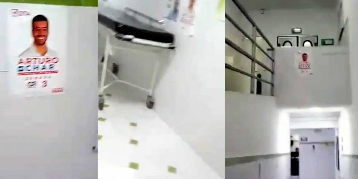 Denuncian publicidad política en clínica para el servicio público en Barranquilla