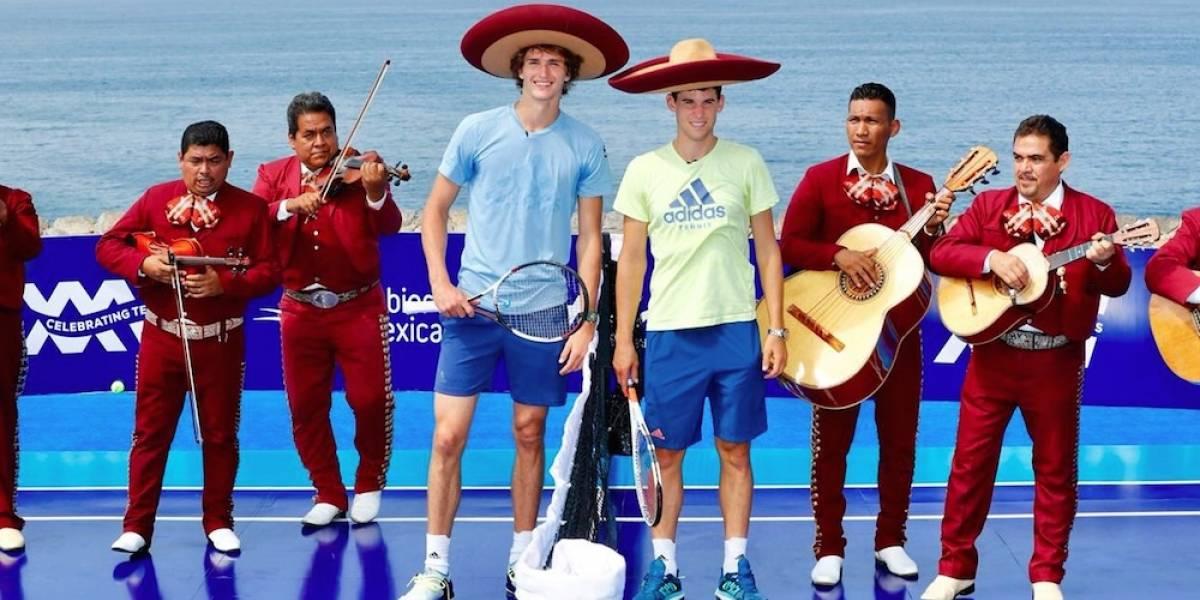Alexander Zverev y Dominic Thiem dan exhibición en risco de Acapulco