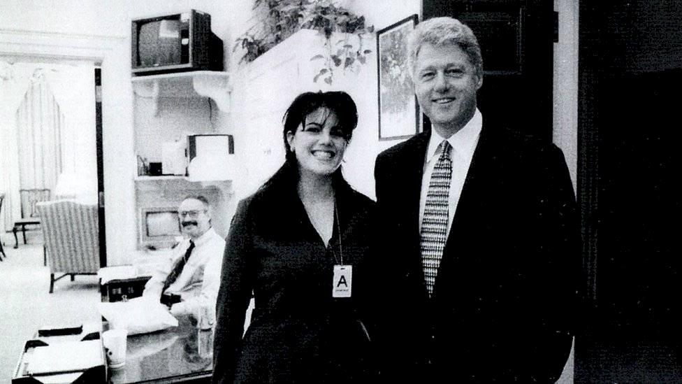 Monica Lewinsky y Bill Clinton.