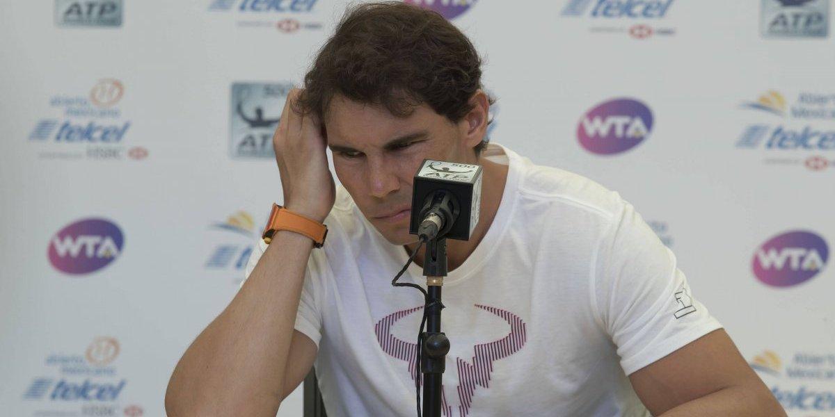 Rafael Nadal abandona el Abierto de Acapulco por vieja lesión
