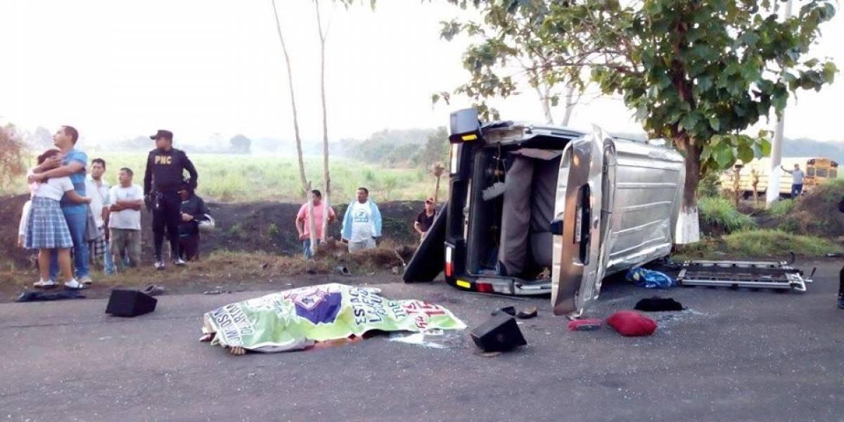 Una persona fallecida y varias heridas por accidente de tránsito en Escuintla