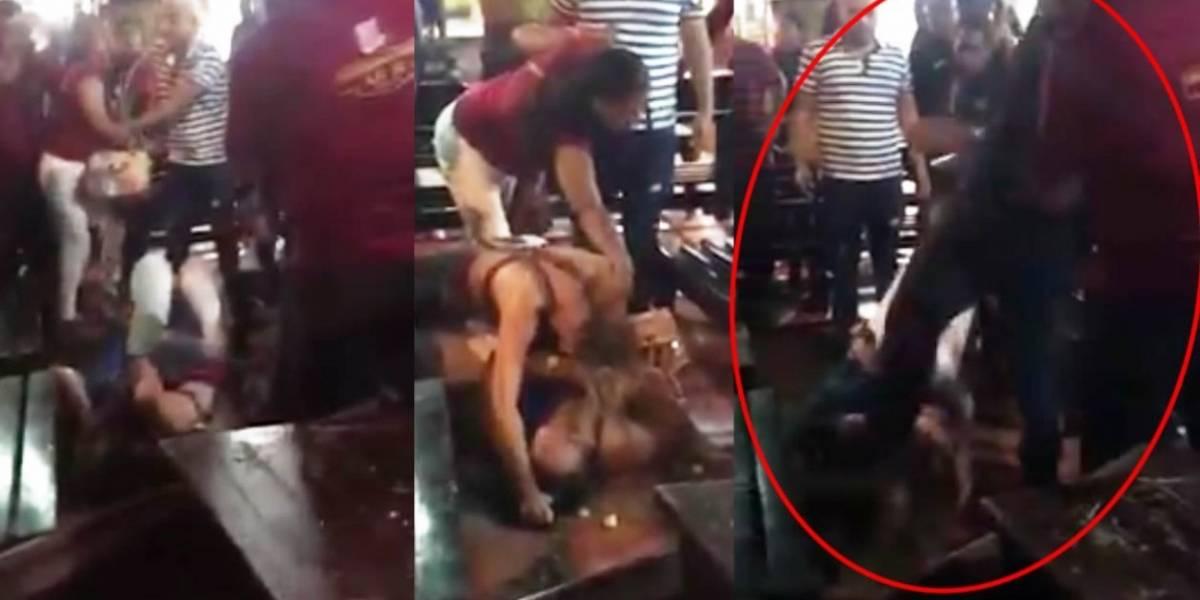 Grave agresión de un hombre a una mujer por una picada de chicharrón