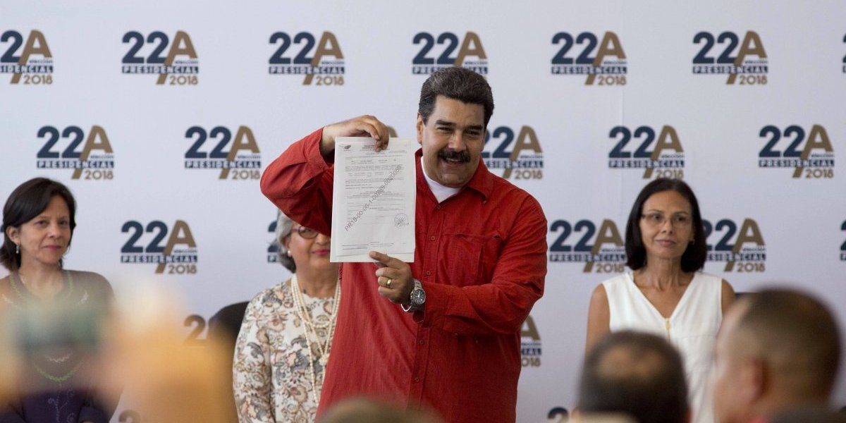 Venezuela: Maduro inscribe su candidatura para la reelección
