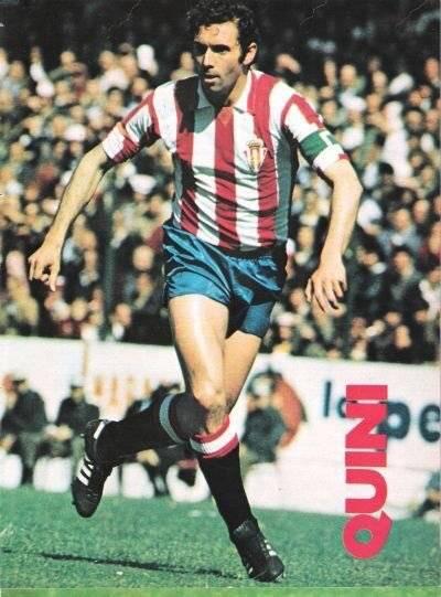 Quini con el Sporting de Gijón.