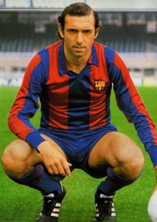 Quini ganó varios títulos con el Barça
