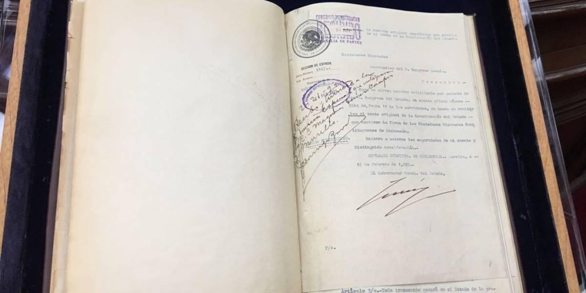 Conmemoran en Michoacán 100 años de su Constitución Política