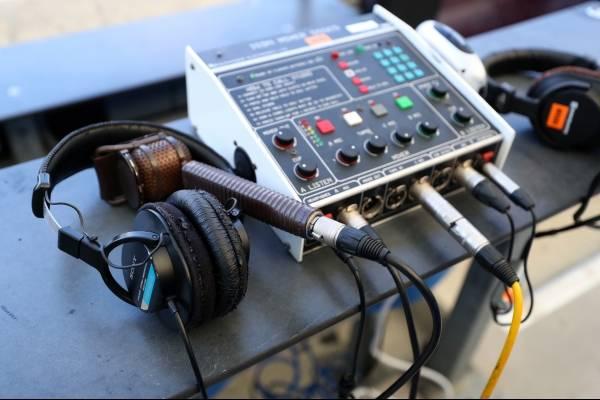 mini mesa de som