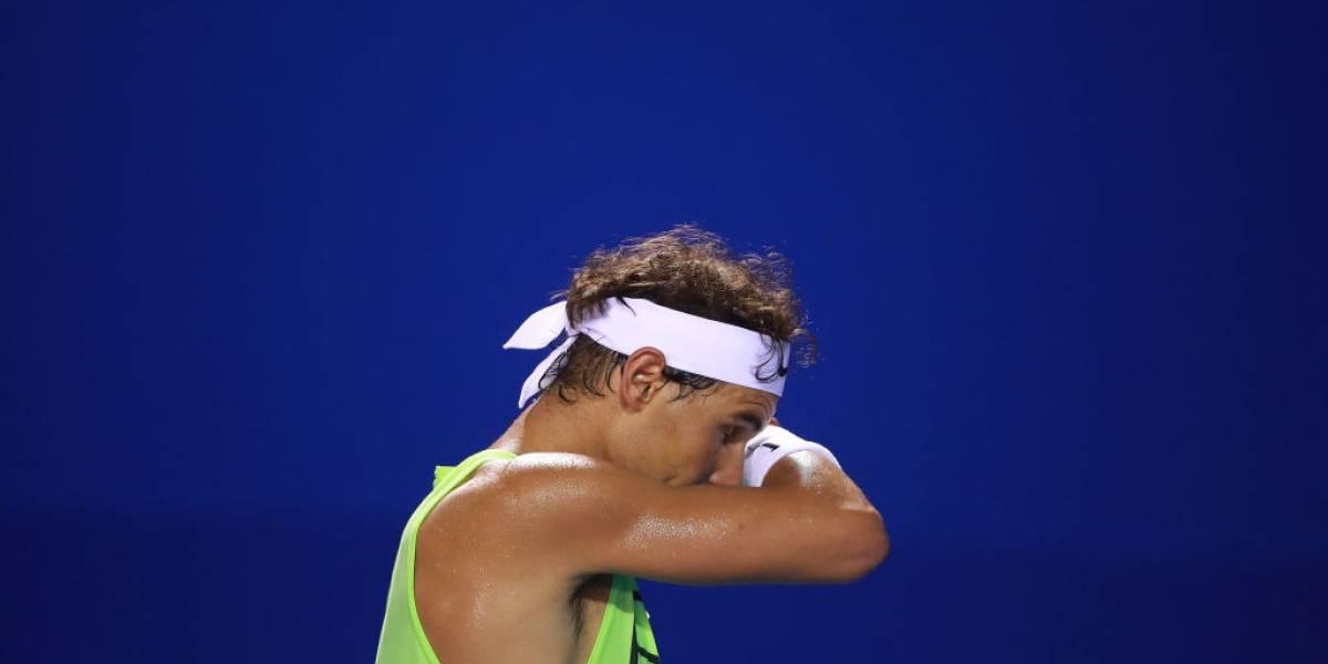 Otra vez: Rafael Nadal no se recupera y abandona el torneo de Acapulco