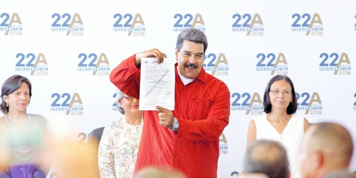 Nicolás Maduro hace oficial su candidatura en Venezuela