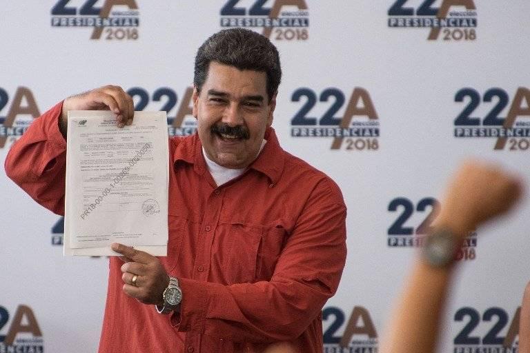 Nicolás Maduro inscribe su candidatura presidencial