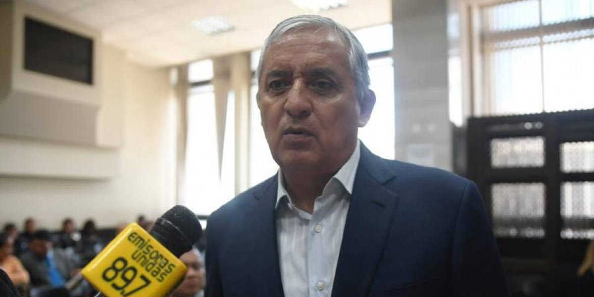 Juez decidirá si otorga libertad condicional a Pérez Molina