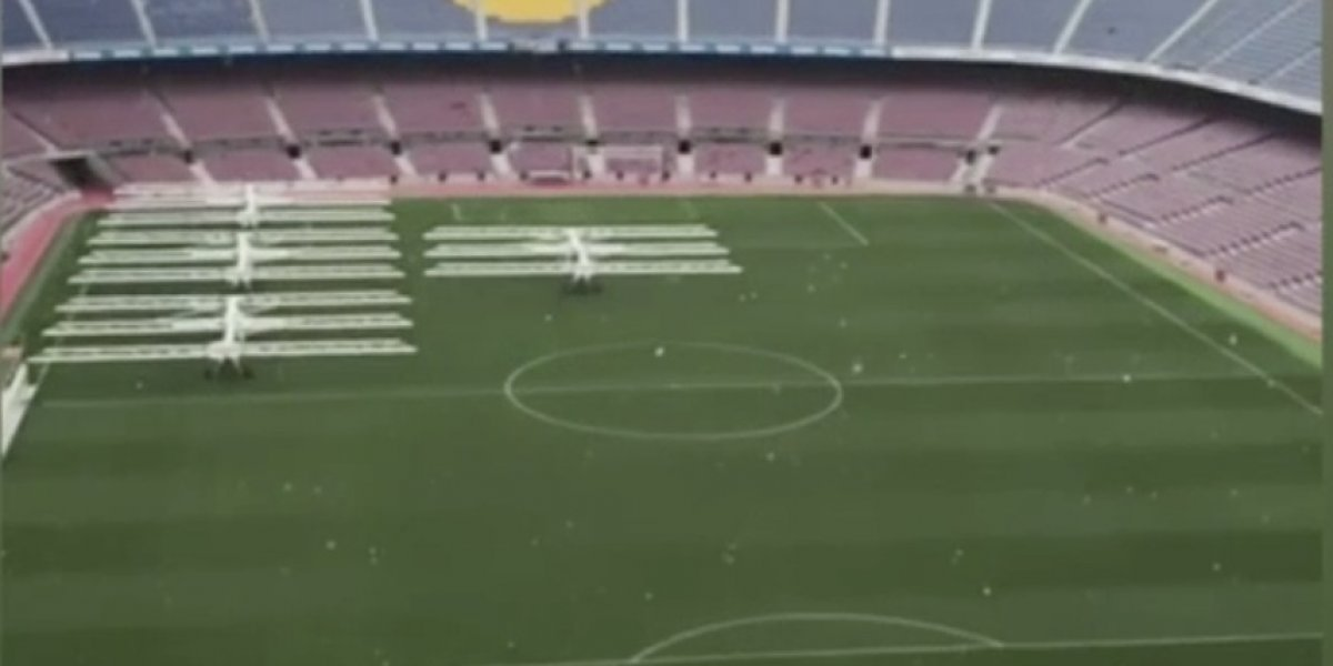 VIDEO: El Camp Nou se viste de blanco