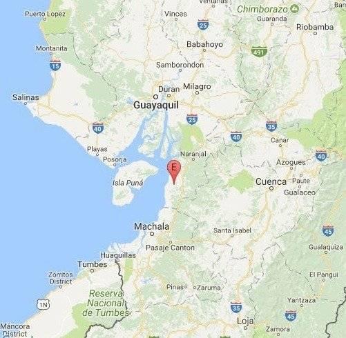 Sismo en GuayasSismo de 4.6 en la escala de Richter se registró en Balao, Guayas