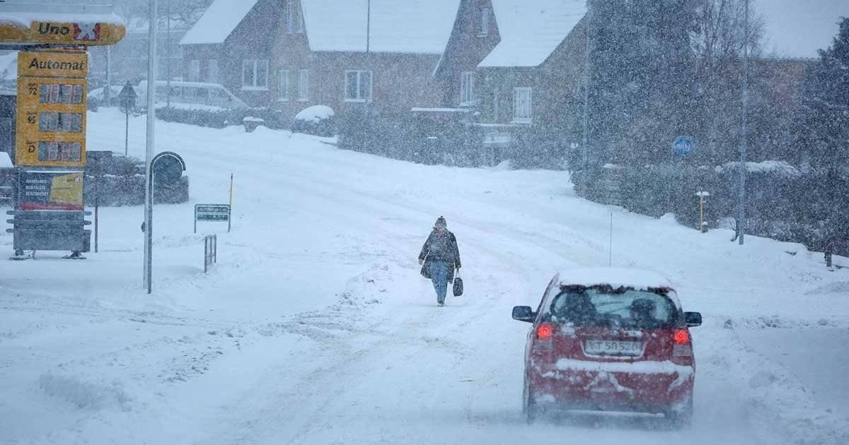 Neve na Dinamarca Pelle Rink/Ritzau Scanpix/via REUTERS