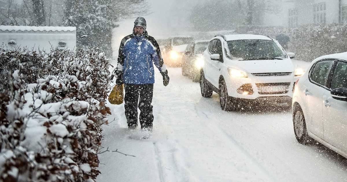 Neve na Dinamarca atrapalha o trânsito Henning Bagger/Ritzau Scanpix/via REUTERS