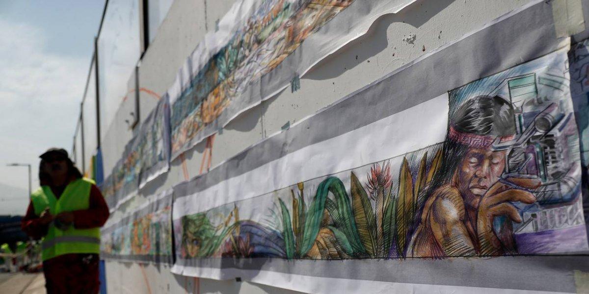 Quilicura en 4 mil doscientos metros: La génesis del mural más largo de Chile
