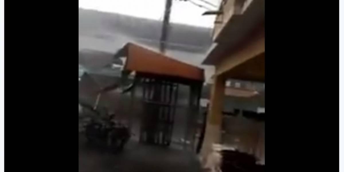 Fuertes vientos destrozaron viviendas en El Triunfo, Guayas