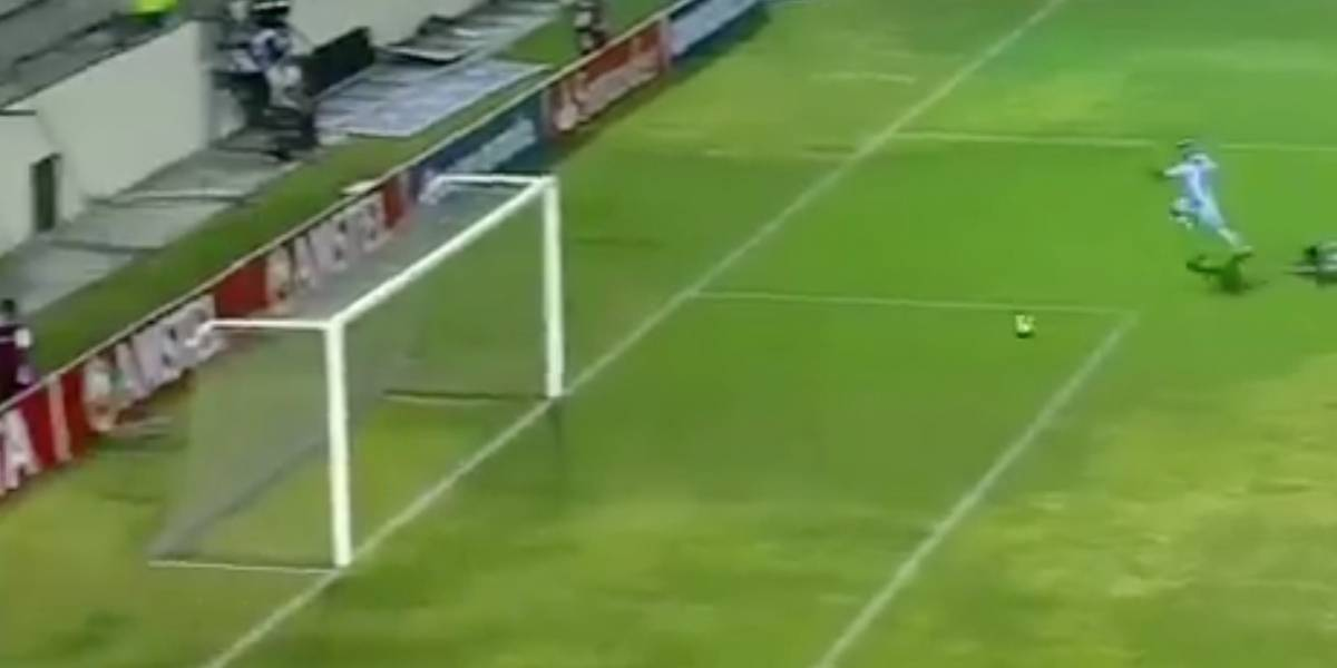 El error de Luis Cangá en partido por Copa Libertadores