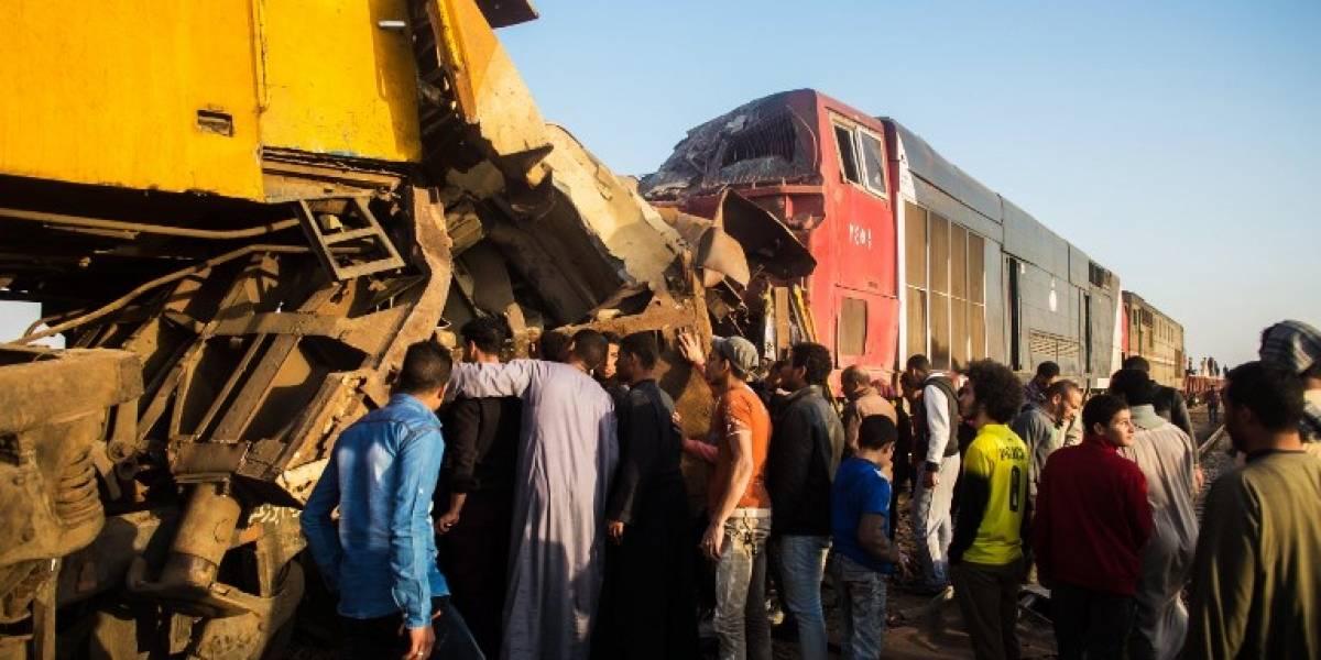 FOTOS. Choque de trenes en Egipto deja al menos 10 muertos