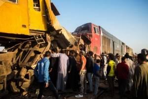 Choque de trenes en Egipto