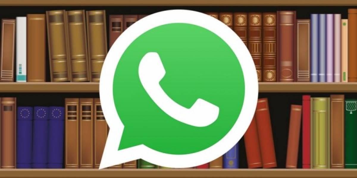 Por alguna razón, una compañía está haciendo libros de tus conversaciones de WhatsApp